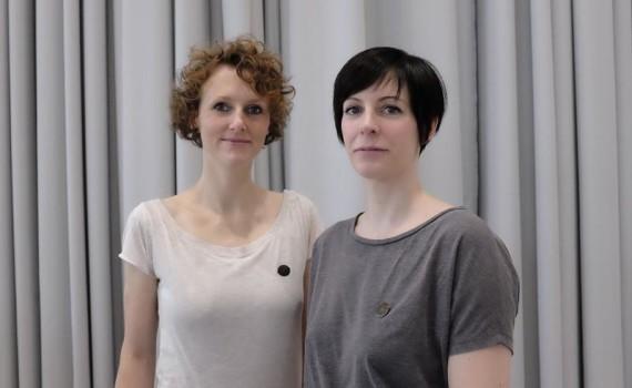 Prof. (stv.) Carolin Schreiber und Dipl. Des. Nina Pillen - Foto: Sabrina Hilfer